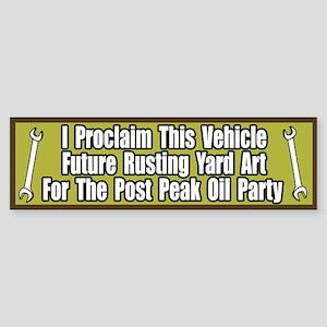 Peak Oil Party Bumper Sticker