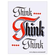 THINK, THINK, THINK Framed Print