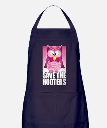 Save The Hooters Pink Apron (dark)