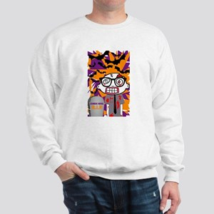 Halloween Zombie Nerd. Sweatshirt