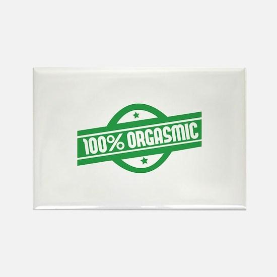 100% orgasmic Rectangle Magnet