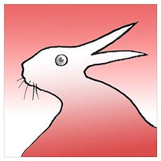 Duck/rabbit illusion Poster