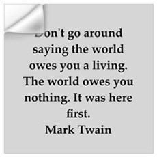 Mark Twain quote Wall Decal