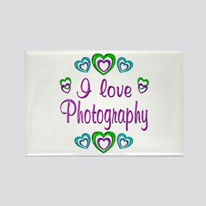 I Love Photography Rectangle Magnet