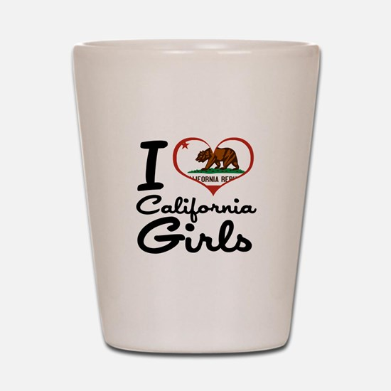 I Love California Girls Shot Glass