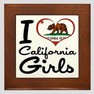 I Love California Girls Framed Tile