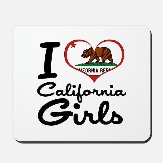 I Love California Girls Mousepad