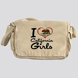 I Love California Girls Messenger Bag