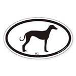 Italian Greyhound IG Euro Oval Sticker