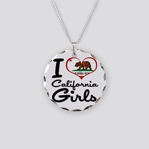 I Love California Girls Necklace Circle Charm