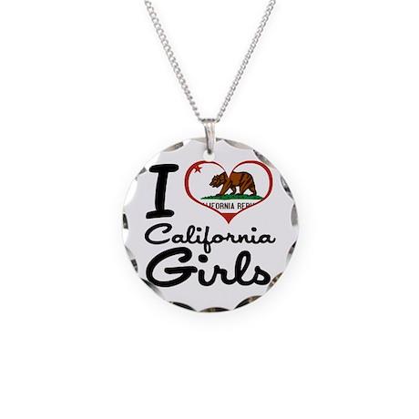 I Love California Girls Necklace Circle Charm