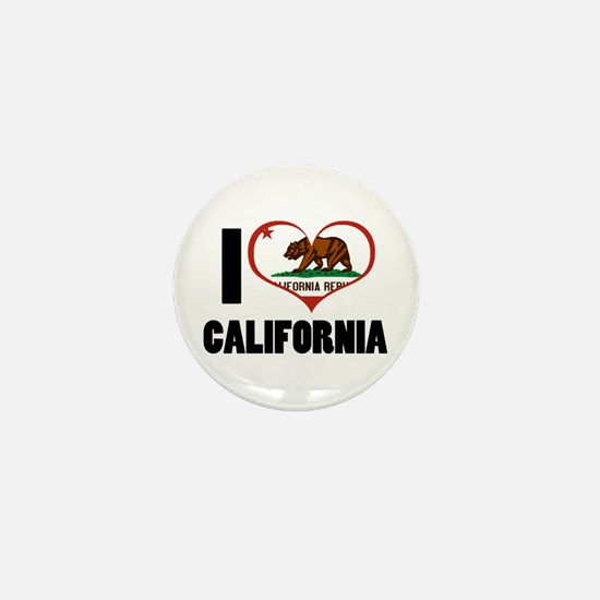 I Love California Mini Button