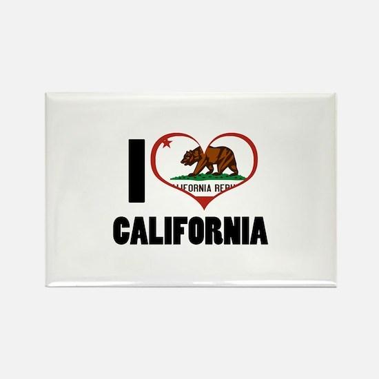 I Love California Rectangle Magnet