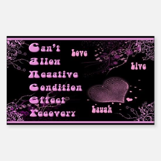 Cancer Awareness Sticker (Rectangle)