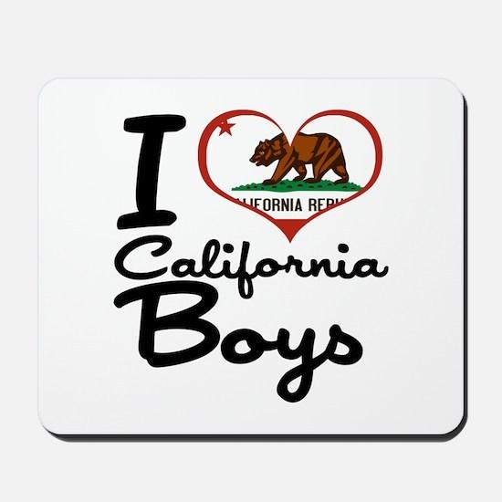 I Love California Boys Mousepad