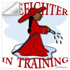 Firefighter In Training Wall Decal
