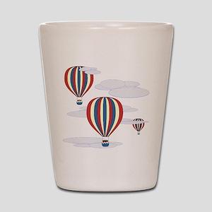 Hot Air Balloon Sky Shot Glass