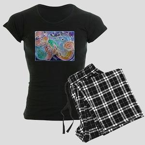 Music, Fun, Bright Women's Dark Pajamas