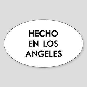 Hecho en Los Angeles Sticker (Oval)
