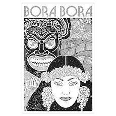 Vintage BORA BORA Poster