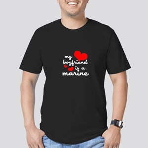 my boyfriend is a marine (red Men's Fitted T-Shirt