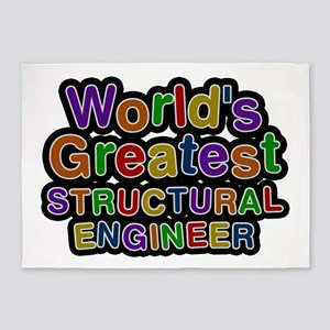 World's Greatest STRUCTURAL ENGINEER 5'x7' Area Ru