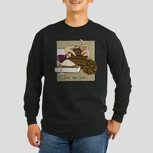 Knit Sip Knit LS Tee (black)