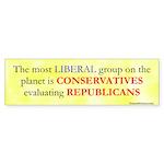 Conservative Liberal Bumper Sticker (50 pk)