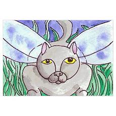 Fae Cat- Grey Poster