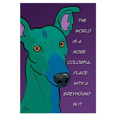 Colorful Greyhound Framed Print