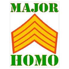 Major Homo Poster