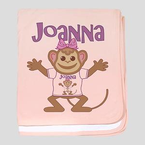Little Monkey Joanna baby blanket