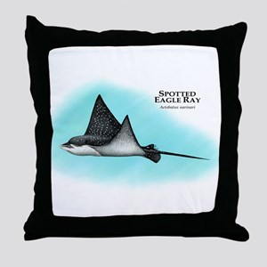 Spotted Eagle Ray Throw Pillow