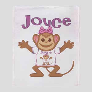 Little Monkey Joyce Throw Blanket