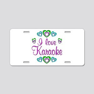 I Love Karaoke Aluminum License Plate