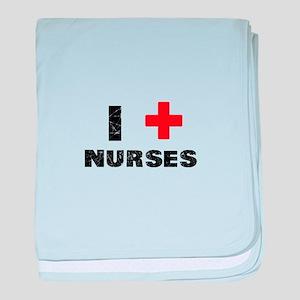 I Love Nurses baby blanket