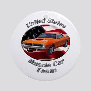 Plymouth Barracuda Ornament (Round)