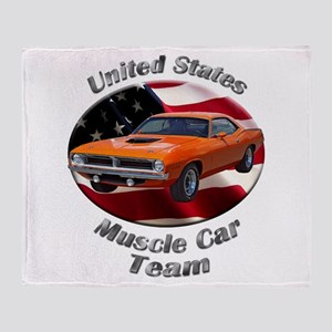 Plymouth Barracuda Throw Blanket
