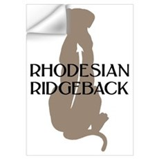 Ridgeback w/ Text Wall Decal