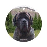 Brindle mastiff Round Ornaments