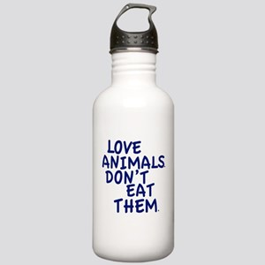 Don't Eat Animals Stainless Water Bottle 1.0L