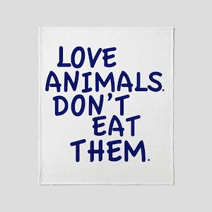 Don't Eat Animals Throw Blanket