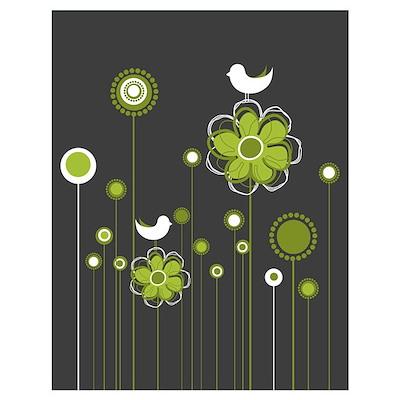 Trendy Floral Decor Poster