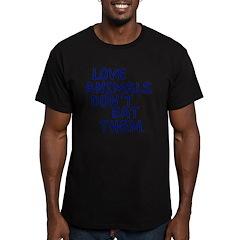 Don't Eat Animals Men's Fitted T-Shirt (dark)