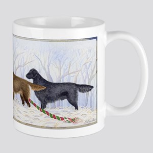 Winter Flat-coated Retriever Mug