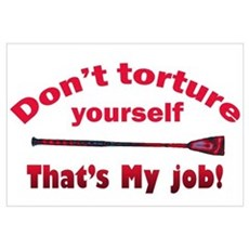 Don't torture youself Framed Print
