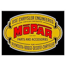 Mopar Parts & Accessories Poster