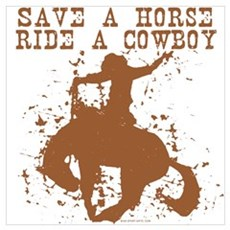 Save a horse, ride a cowboy. Canvas Art