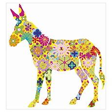 - Flower Donkey Poster
