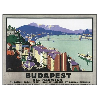 Vintage Budapest Travel Poste Poster